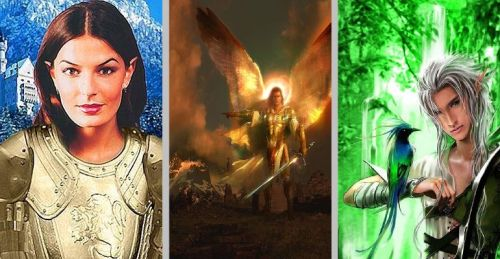 Bethany, the White Lady; Gideon, the Lord of Light; and Oberon, King of the Green